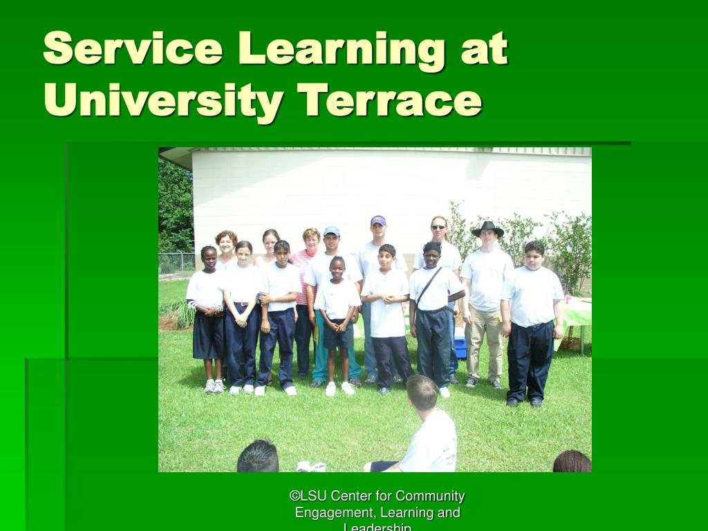 Service Learning at University Terrace