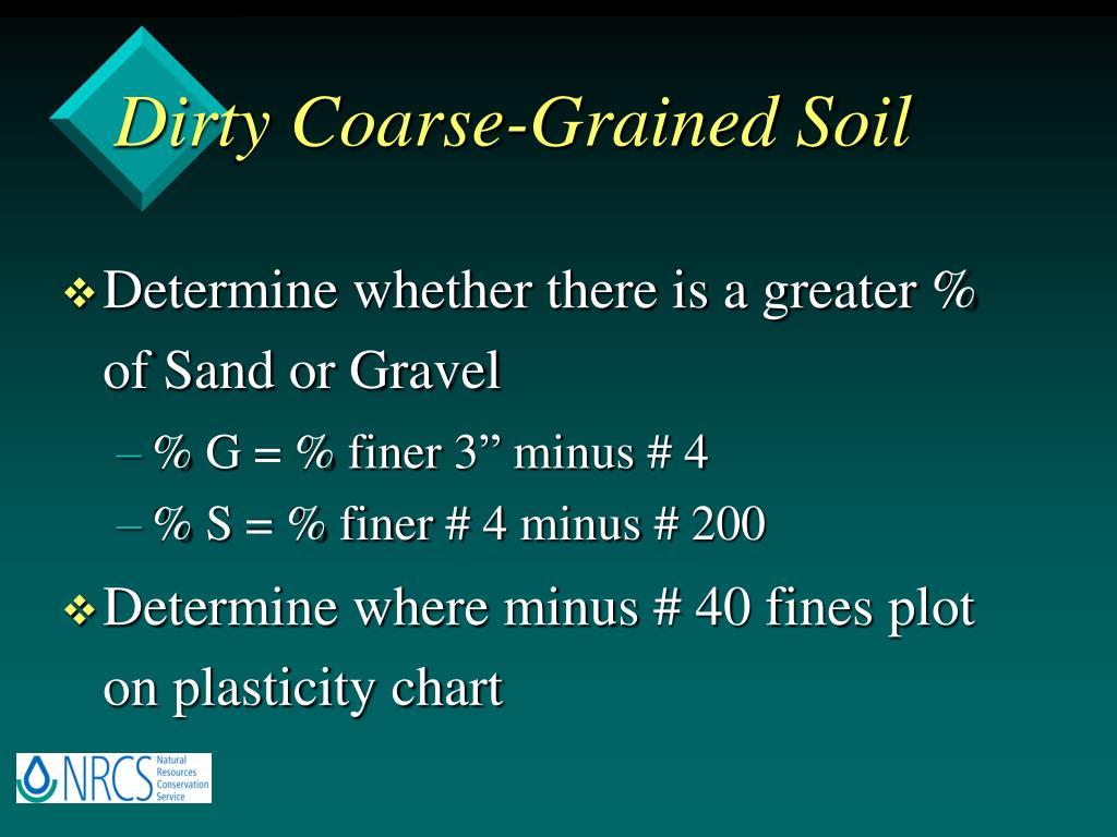 Dirty Coarse-Grained Soil