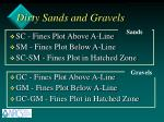 dirty sands and gravels