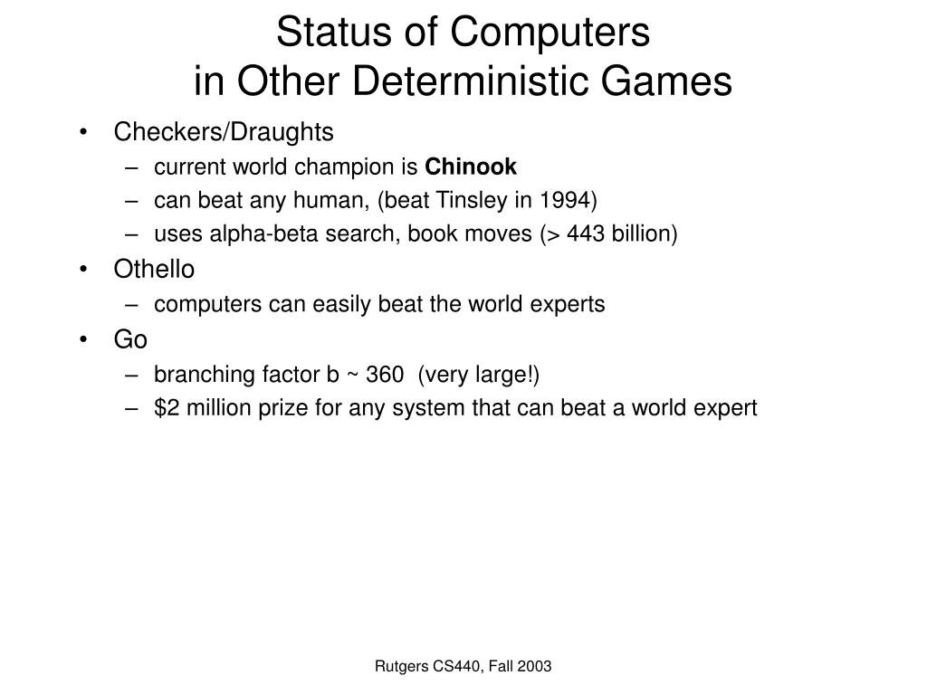 Status of Computers