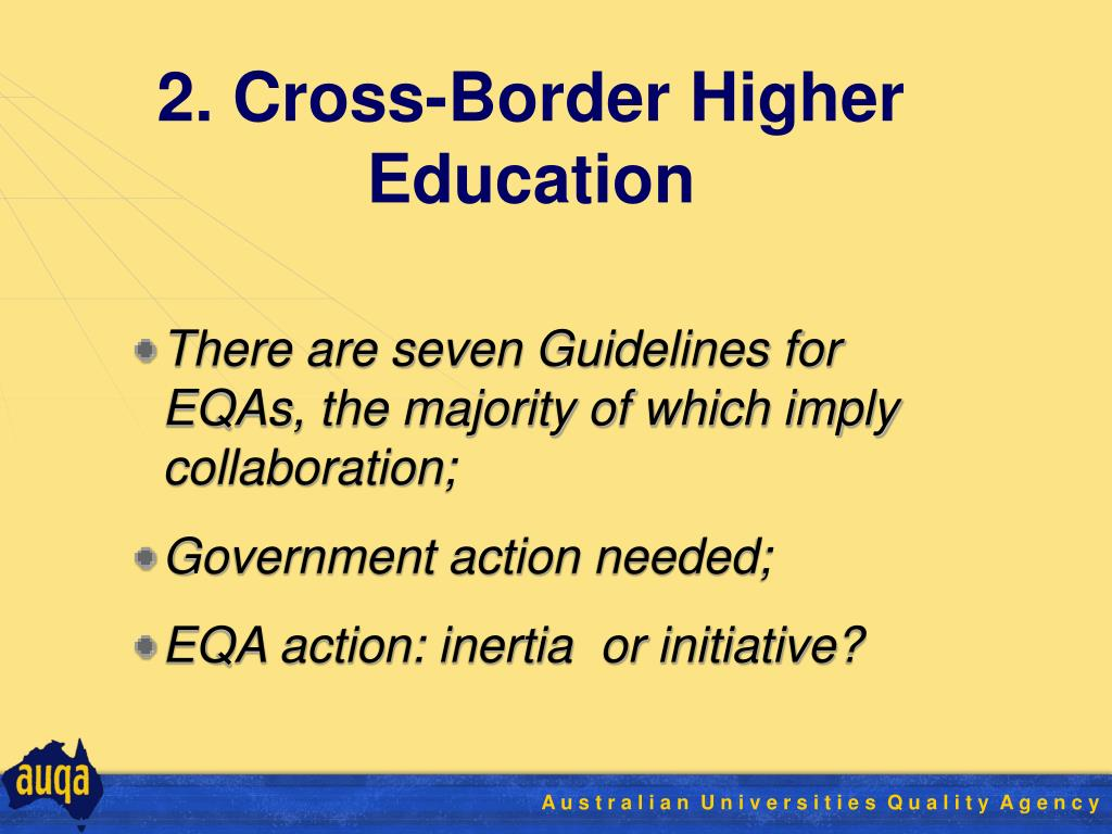 2. Cross-Border Higher Education