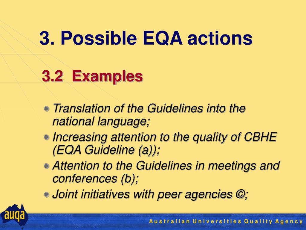 3. Possible EQA actions