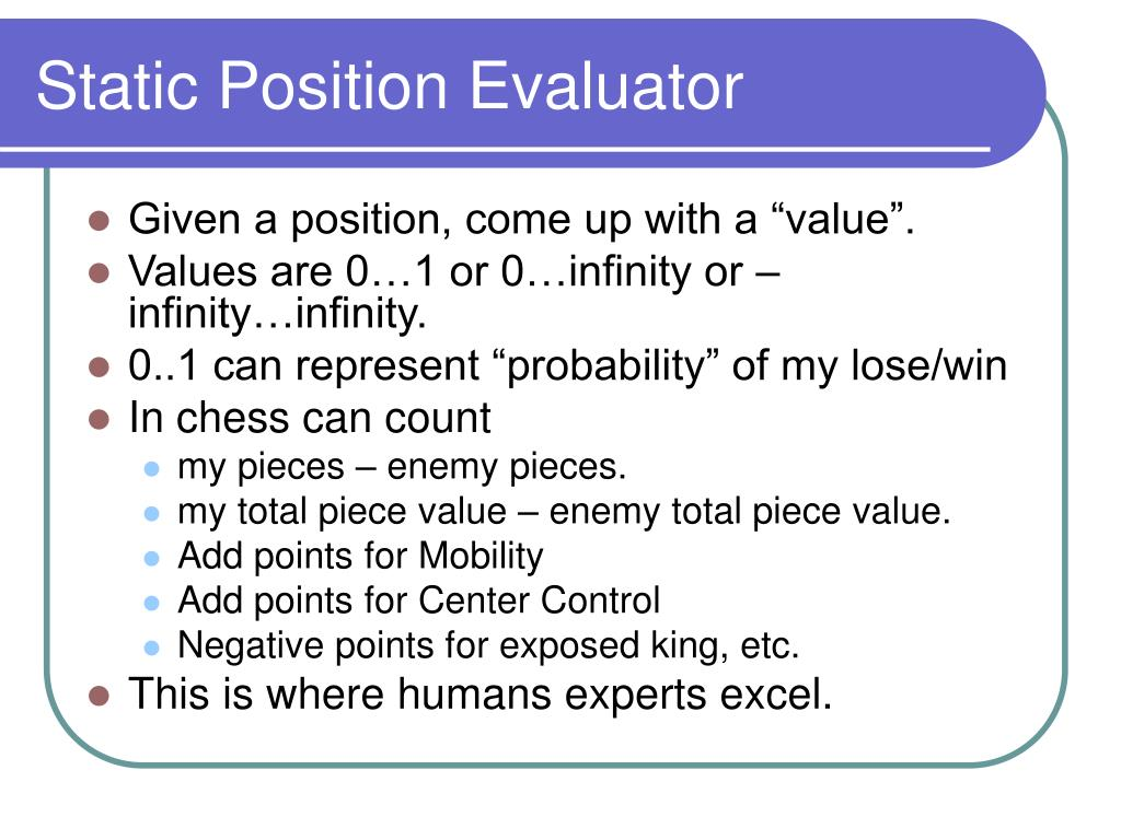 Static Position Evaluator