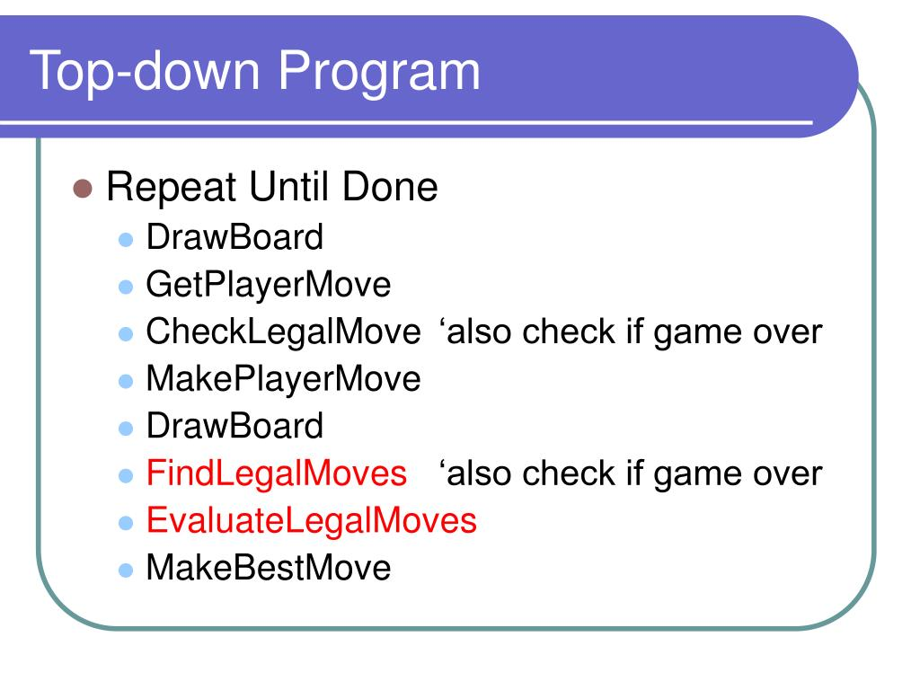 Top-down Program