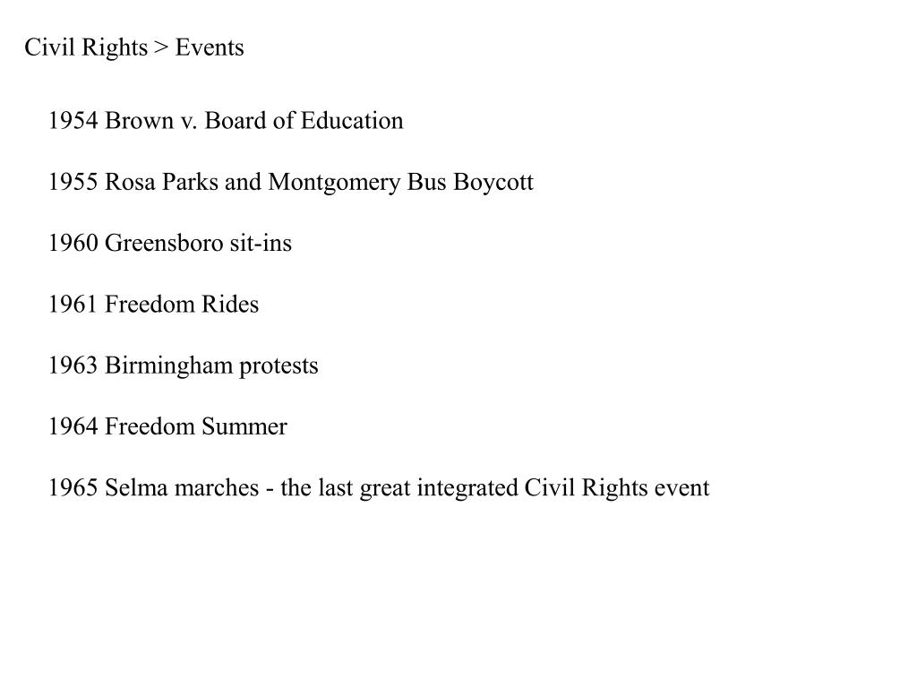 Civil Rights > Events