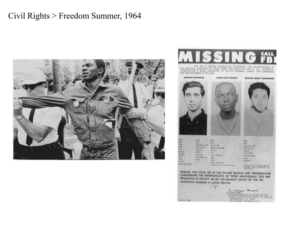 Civil Rights > Freedom Summer, 1964