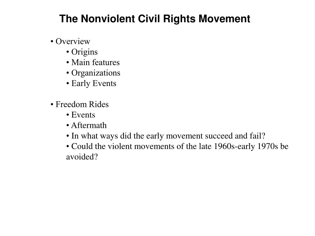 The Nonviolent Civil Rights Movement