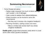 summoning necromancer