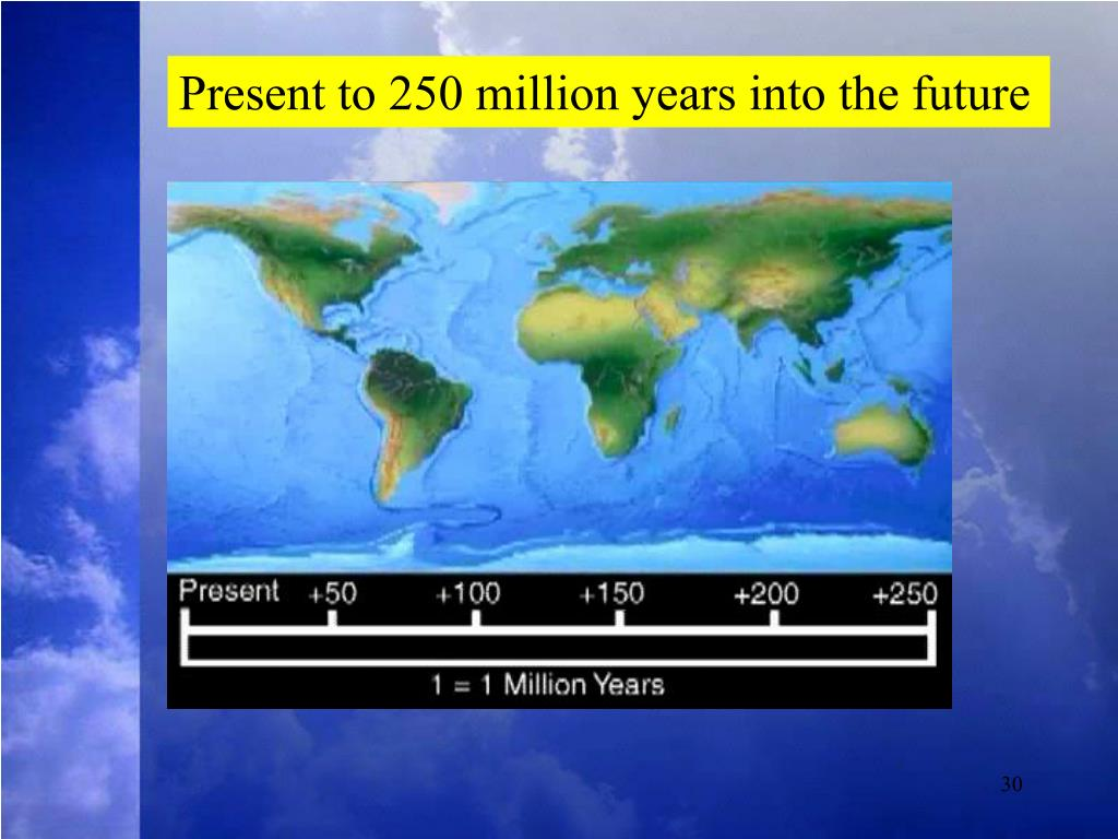 Present to 250 million years into the future