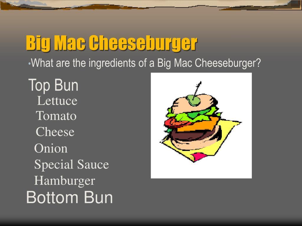 Big Mac Cheeseburger