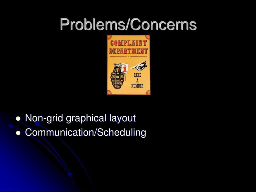Problems/Concerns
