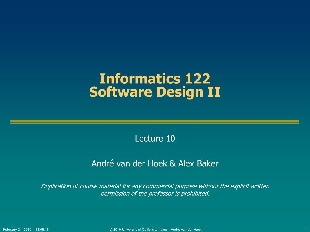 Informatics 122