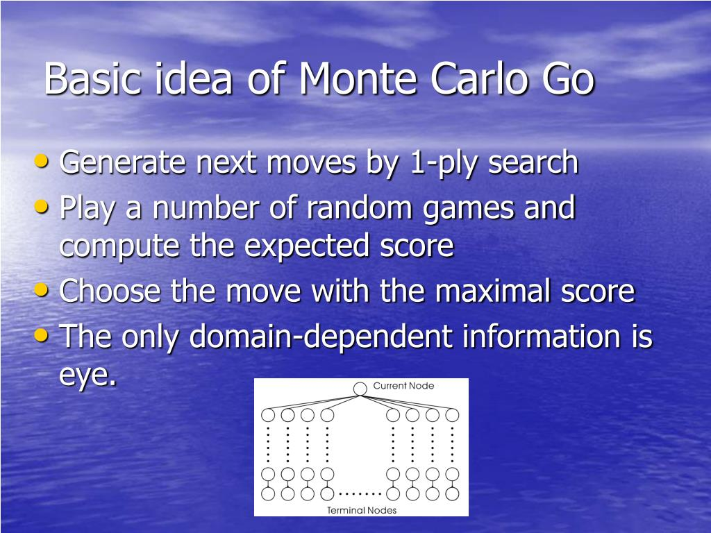 Basic idea of Monte Carlo Go