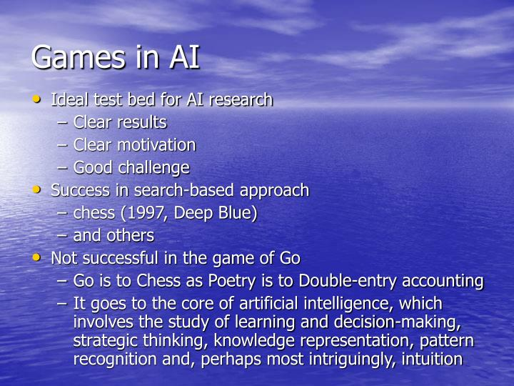 Games in ai