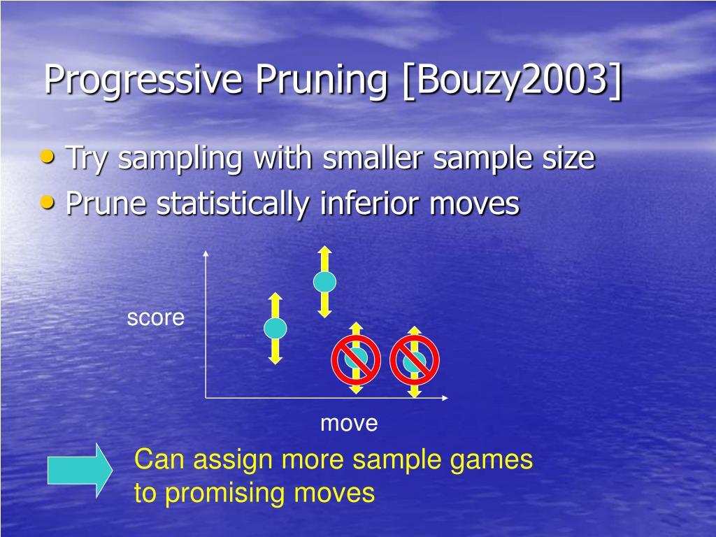 Progressive Pruning [Bouzy2003]
