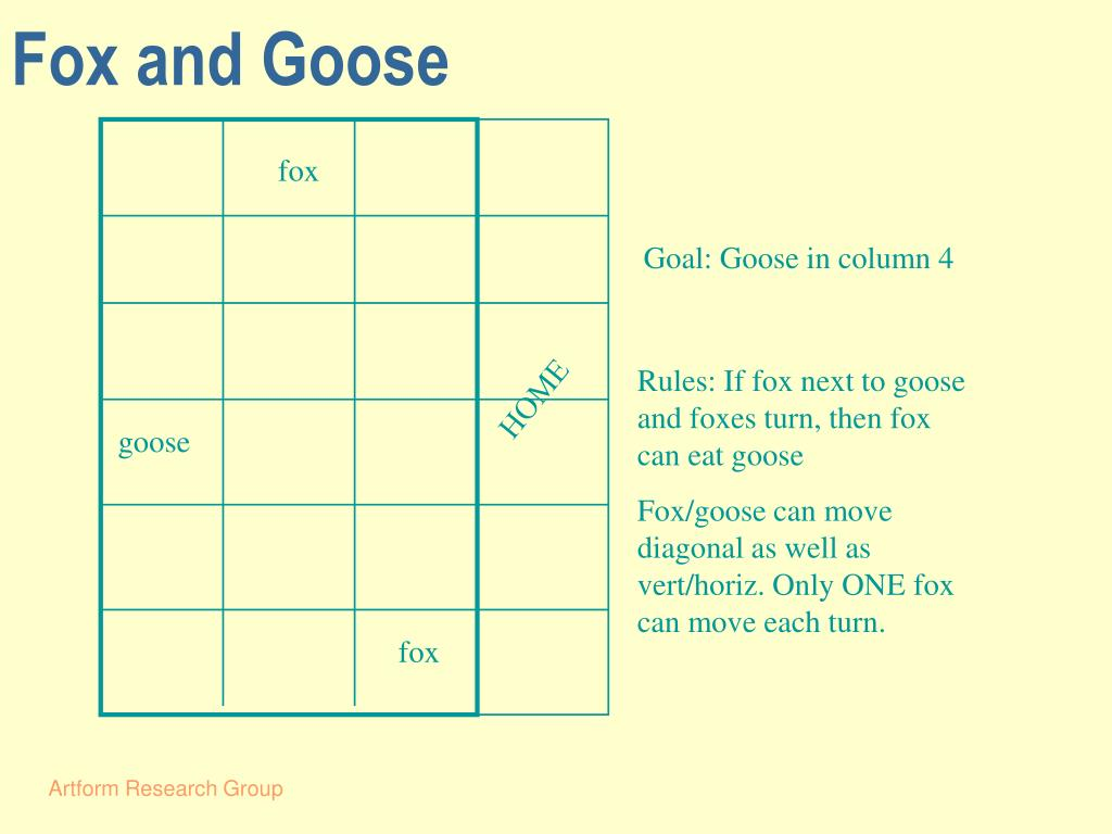 Fox and Goose