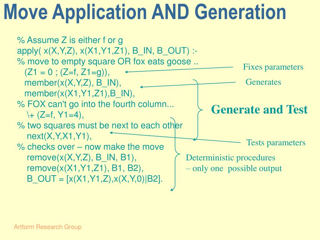 Move Application AND Generation