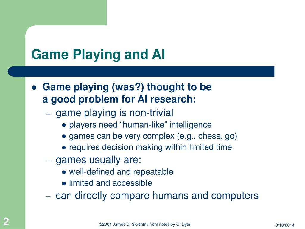 Game Playing and AI