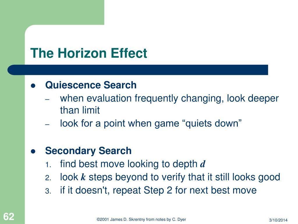 The Horizon Effect