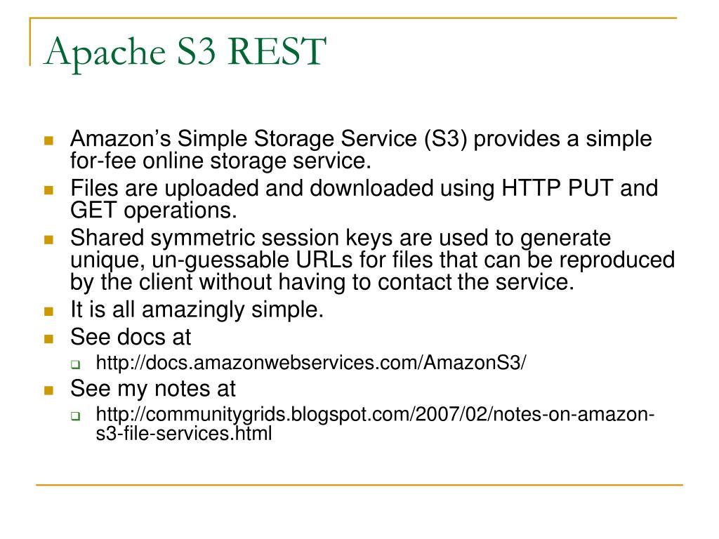 Apache S3 REST