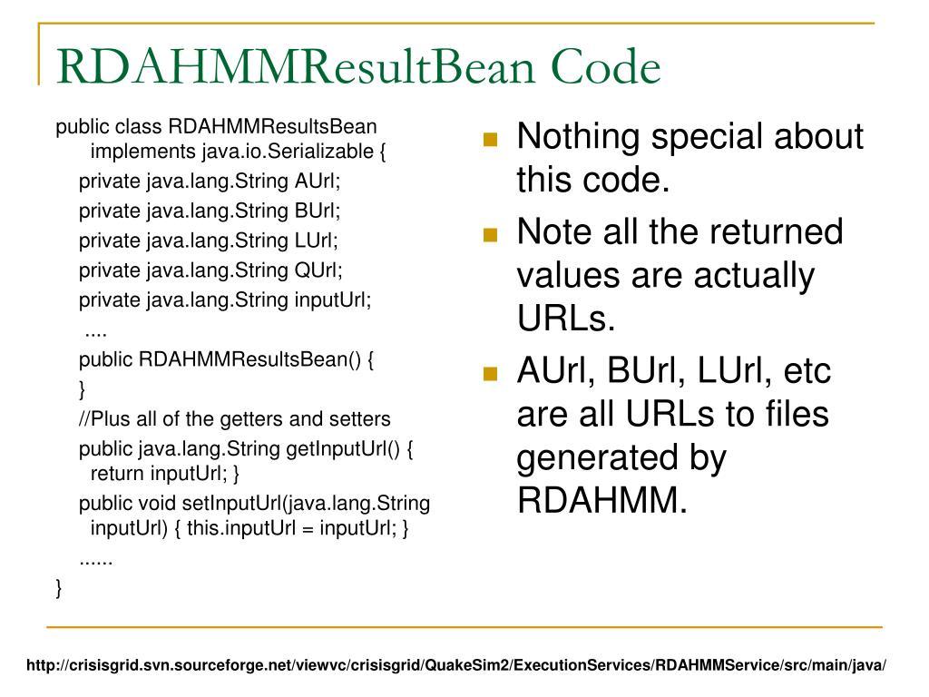 RDAHMMResultBean Code
