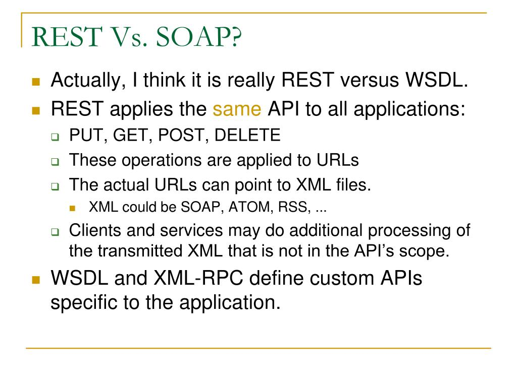 REST Vs. SOAP?