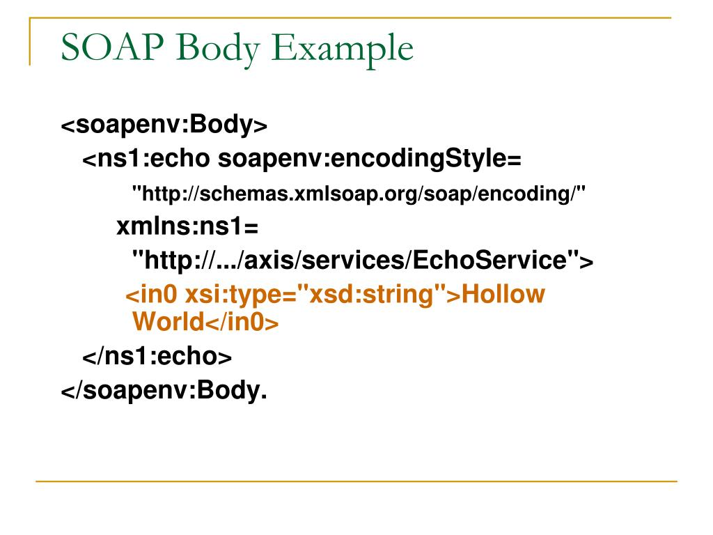 SOAP Body Example