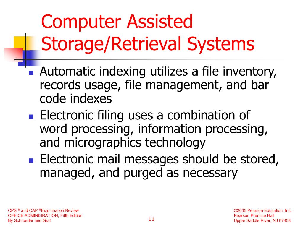 Computer Assisted Storage/Retrieval Systems