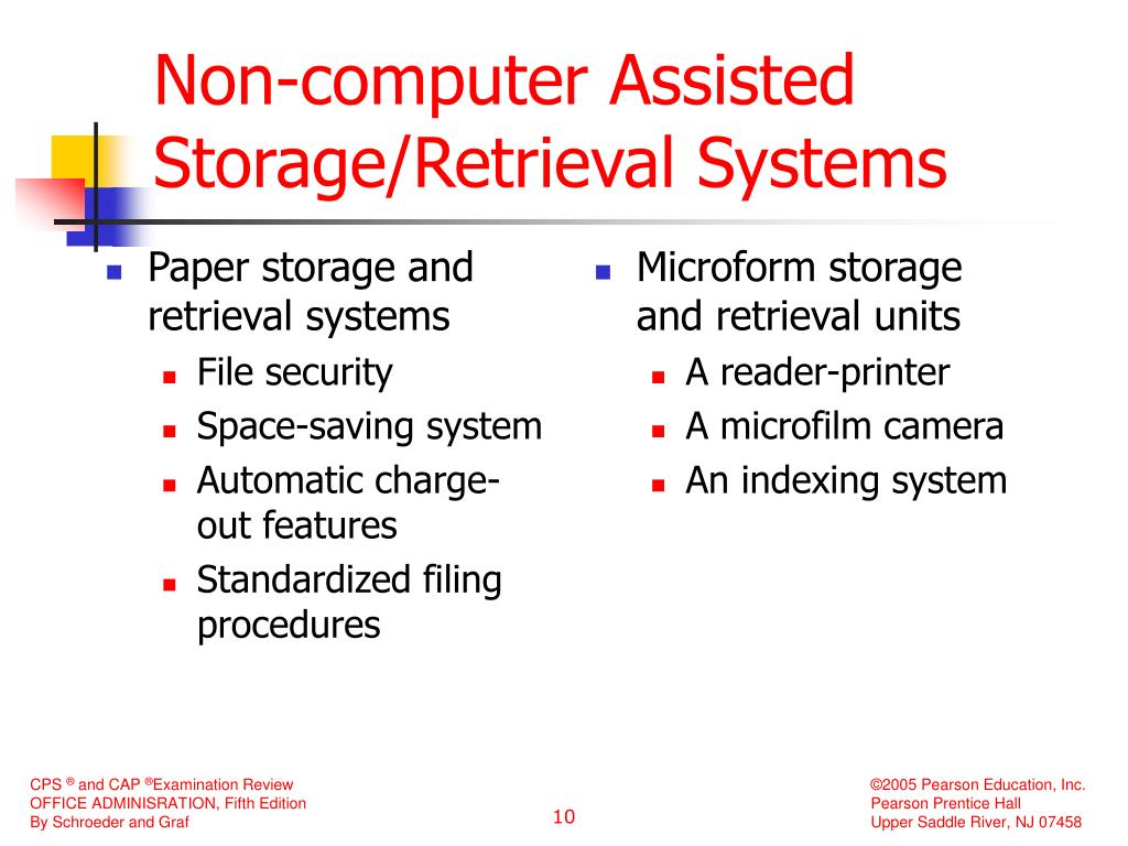 Paper storage and retrieval systems