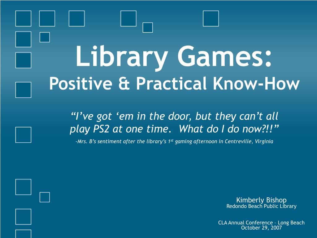 Library Games: