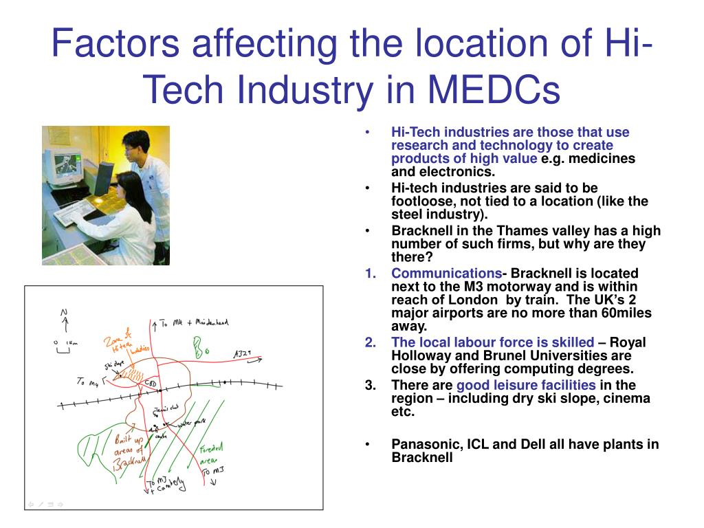 Factors affecting the location of Hi-Tech Industry in MEDCs