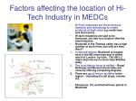 factors affecting the location of hi tech industry in medcs
