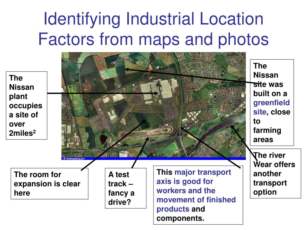 Identifying Industrial Location Factors from maps and photos