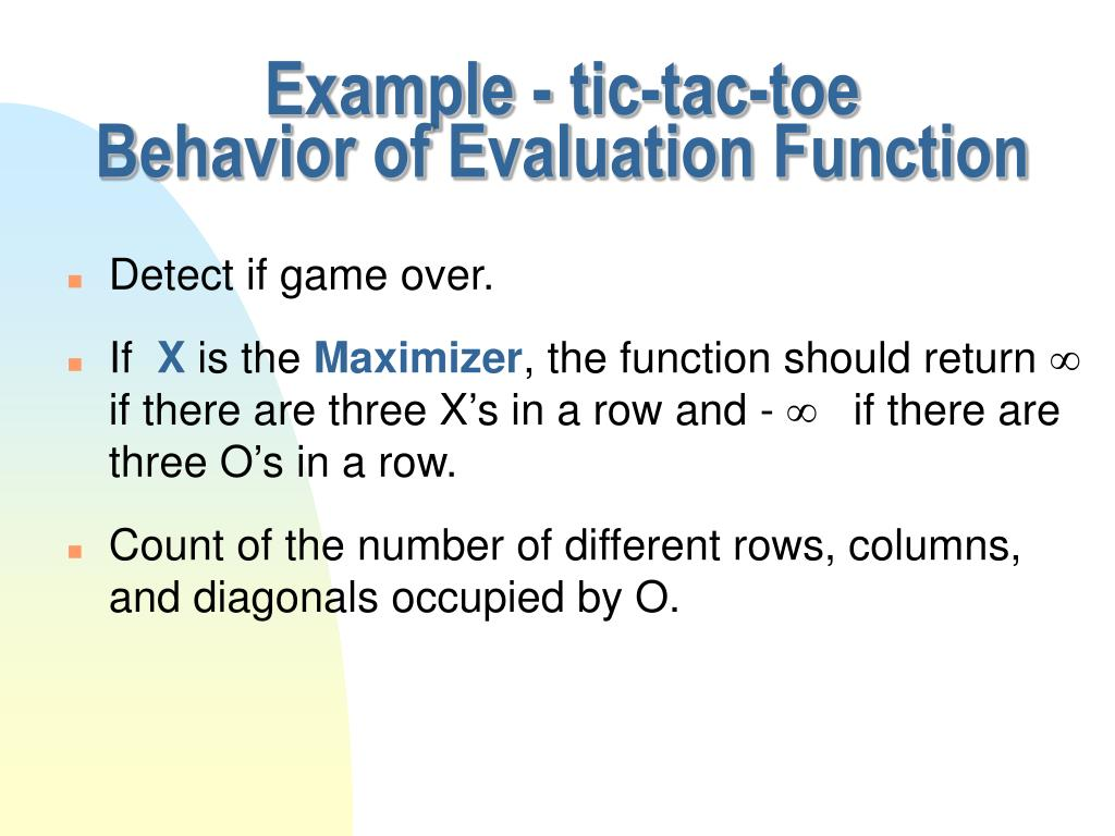 Example - tic-tac-toe