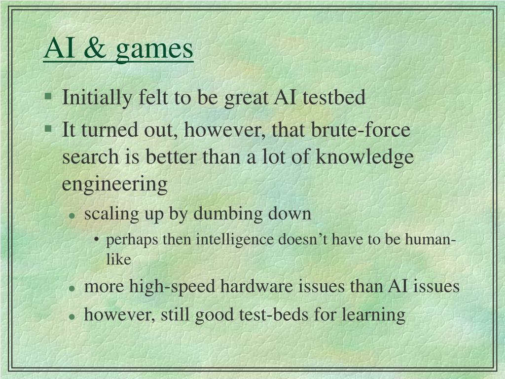 AI & games