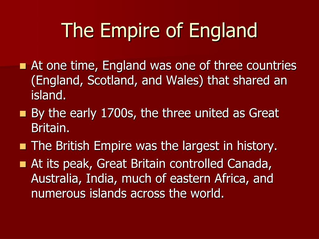 The Empire of England