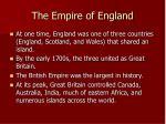 the empire of england