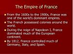 the empire of france