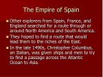 the empire of spain