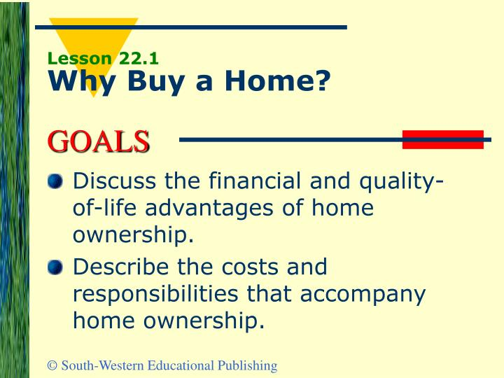Lesson 22 1 why buy a home