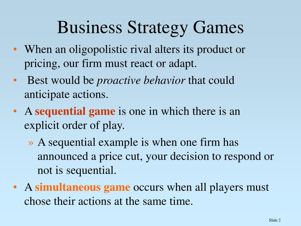 Business Strategy Games