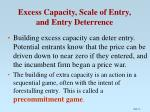 excess capacity scale of entry and entry deterrence