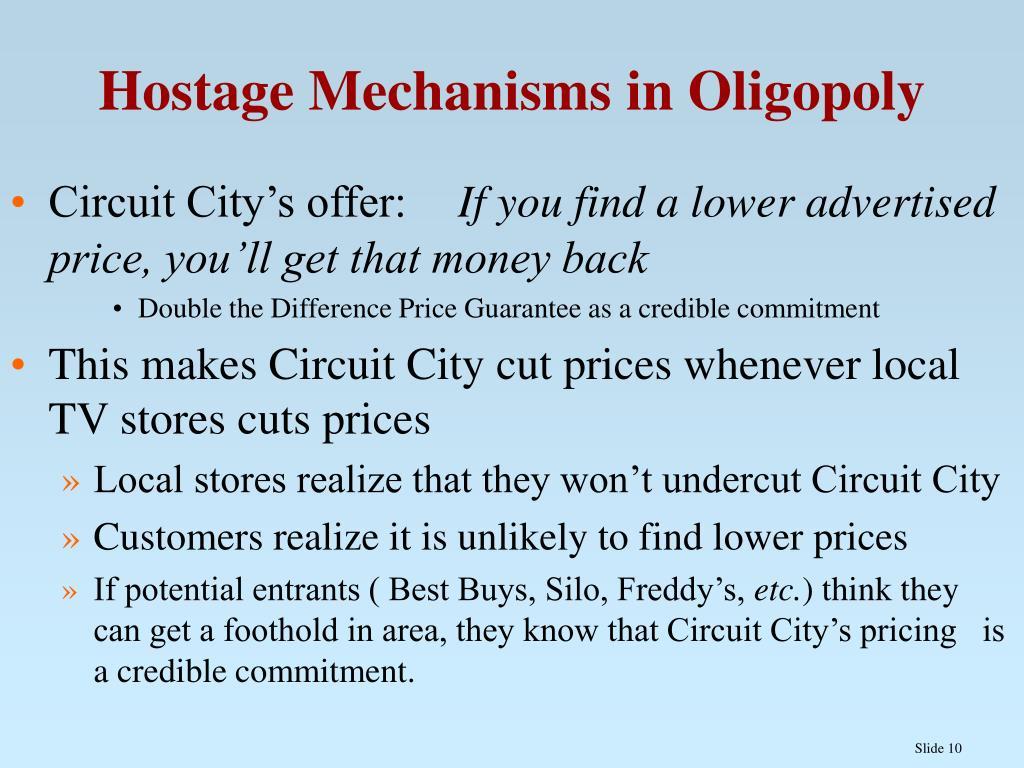 Hostage Mechanisms in Oligopoly