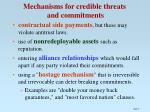 mechanisms for credible threats and commitments