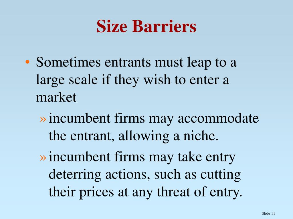 Size Barriers
