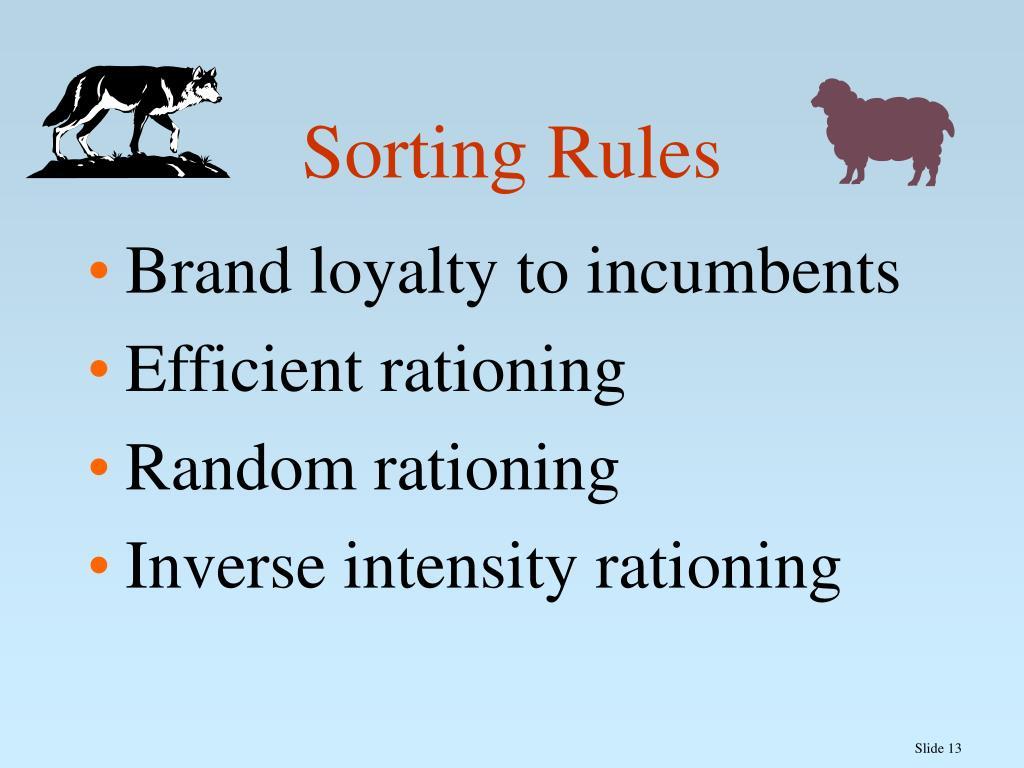 Sorting Rules