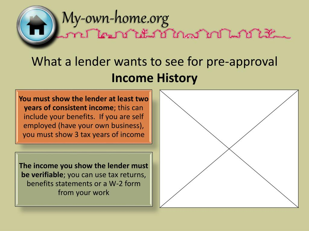 What a lender wants to see for pre-approval