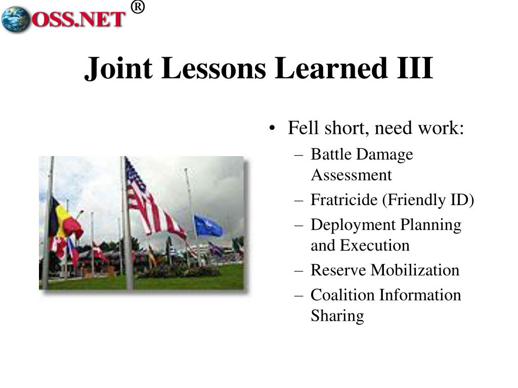 Joint Lessons Learned III