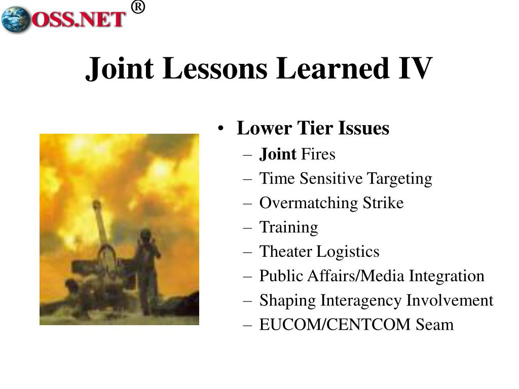 Joint Lessons Learned IV