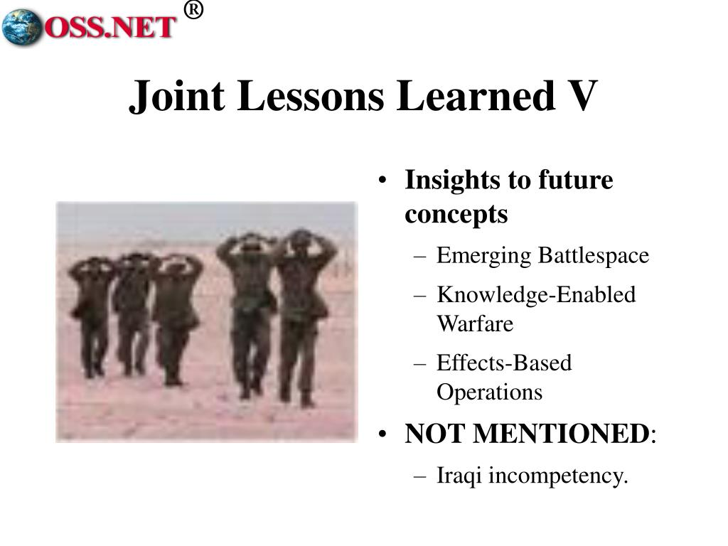 Joint Lessons Learned V